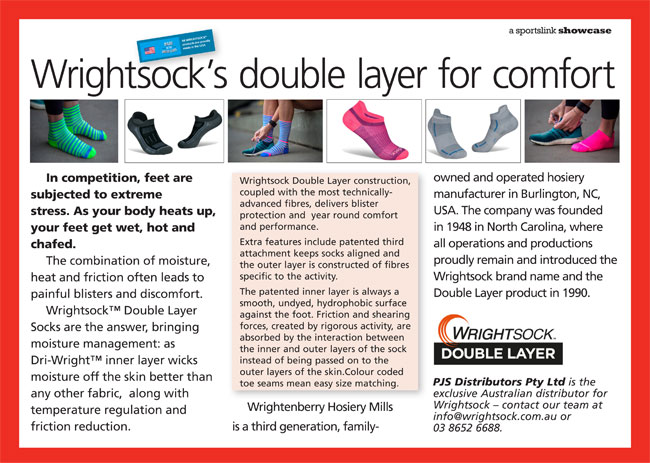 Wrightsock's double layer for comfort