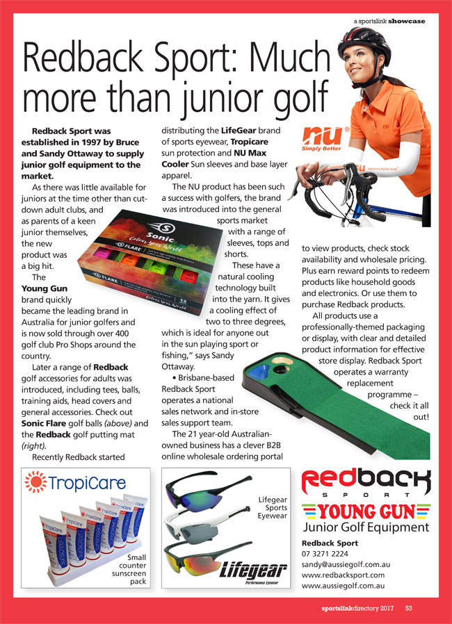 Redback Sport: Much more than junior golf by Redback Sport in Wacol QLD