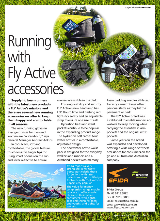 Running with Fly Active accessories