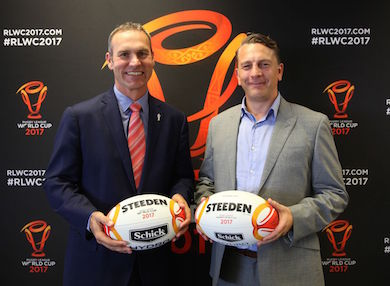 Steeden kicks off as world cup ball by Gray-Nicolls Sports Pty Ltd in Cheltenham VIC