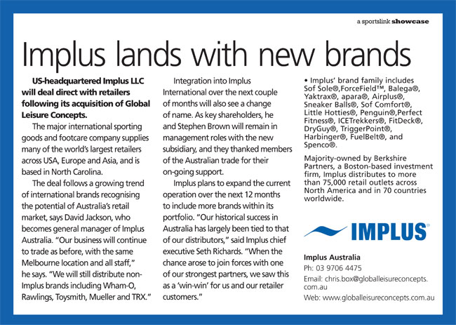 Implus lands with new brands