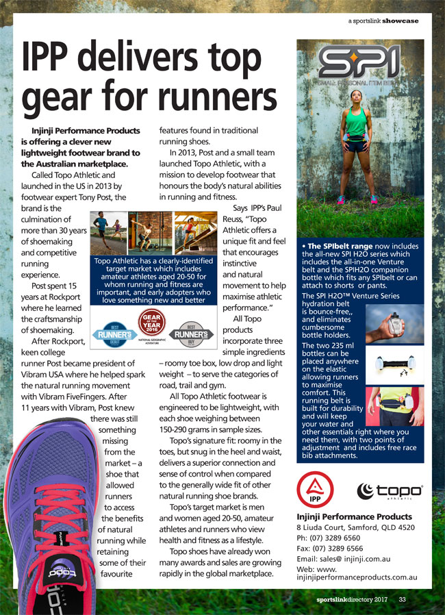 IPP delivers top gear for runners by Injinji Performance Products Pty Ltd in Samford QLD