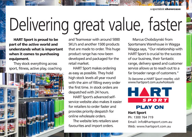 Delivering great value, faster by HART Sport in Aspley QLD
