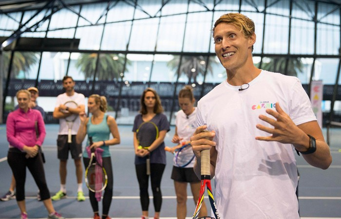 Tennis Australia promotes cardio workout by Sportslink in Cooran QLD