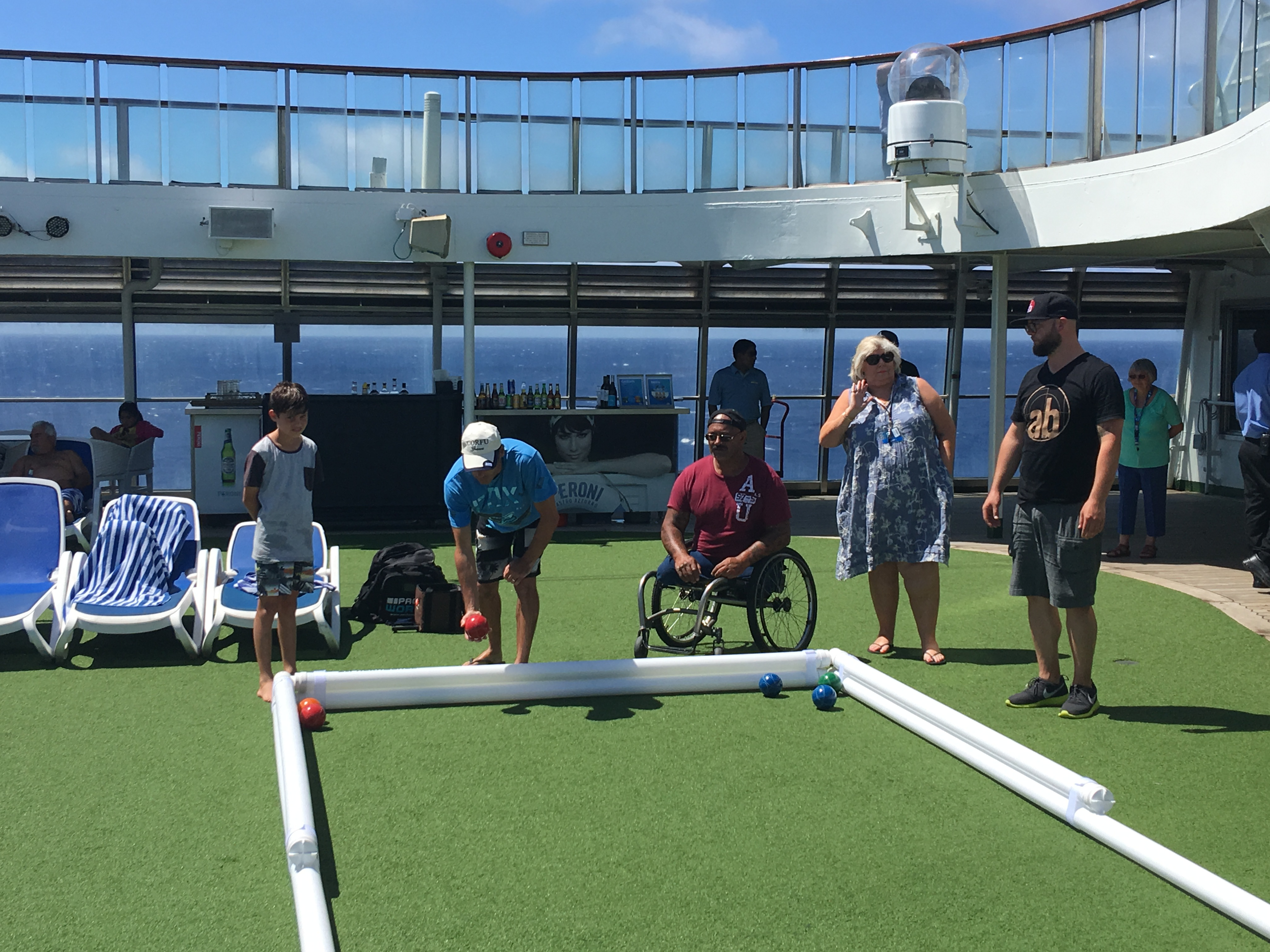 Inflatable court boosts Bocce games by Sportslink in Cooran QLD