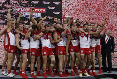 Swans fly at top of AFL fan ladder, again by Sportslink in Cooran QLD
